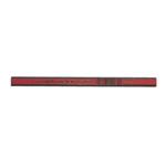 Dixon Industrial Oriole Woodcase Flat Carpenter's Pencil, Medium, Red, Dozen