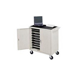 Bretford Laptop Storage Cart LAP18EULBA-GM - Notebook cart - gray
