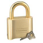 Master Lock Company 4-digit Solid Brass Combination Padlock w/B