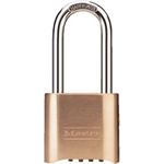 "Master Lock Company Brass Resettable Combination Lock w/2-1/8"" Shack"