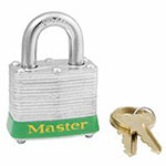 Master Lock Company Steel Body Safety Padlocks, 9/32 in Diam., 3/4 in L X 5/8 in W, Blue
