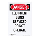 Master Lock Company Safety Series Lockout Signs