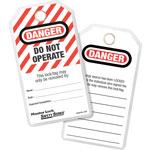 Master Lock Company Do Not Operate Safety Tags w/Gromm.&ties 12/bag