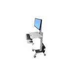 Ergotron WorkFit C-Mod Mid-Size Display Sit-Stand Workstation - cart