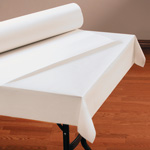 "Hoffmaster Tablecover, 40"" x 300', Bright White"