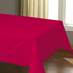 "Hoffmaster Tablecover, 54""x108"", Red"