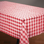 "Hoffmaster Tablecover, 54""x108"", Red Gingham"