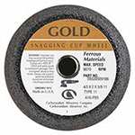Carborundum Flaring Cup Wheel, 4 in Dia, 2 in Thick, 16 Grit Alumina Oxide