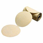 Carborundum Gold Aluminum Oxide Dri-Lube Paper Discs, Seeded Gel, 5 in Dia., P180 Grit