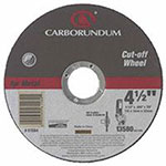 Carborundum Right Angle Grinders, 6 in Dia, .045 in Thick, 60 Grit Alum. Oxide