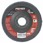 Carborundum Premier Red Zirconia Alumina Type 27 Fat Boy Flap Discs,4 1/2in,60 Grit,5/8 Arbor