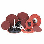 Merit Abrasives Aluminum Oxide Plus Quick Change Cloth Discs, 2 in Dia., 60 Grit