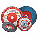 Carborundum White Resin Cloth Flap Discs, 4 1/2in, 120 Grit, 7/8 Arbor, 13,300 rpm