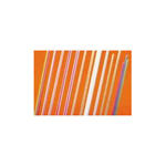 Cardinal Products Giant Unwrapped Striped Straws 7 3/4""