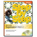 Microsoft Expression Web 2 - Step by Step - self-training course - CD - English