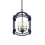 Hastings 61406-42 4 Light Pendant, Rust