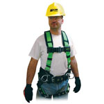 Miller Fall Protection Contractor Harnesses, Back D-Ring, Zipper Bags, 1 Compartment, 12 in X 7 1/2 in, Nylon, Black