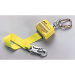 Miller Fall Protection Retractable Webbing Lanyard, 10 ft, Locking Snap, 1 Leg
