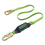 Miller Fall Protection BackBiter Tie-Back Lanyard, 6 ft, Locking Snap Hooks, 310 lb Cap., 2 Legs