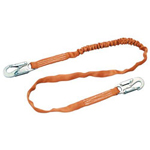 Miller Fall Protection 6' Double Legged Tie Back Web Lanyard w/Adjustable D Ri