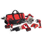 Milwaukee Electric Tools 28 Volt 4 Tool Combo Kit(drill/circ Saw/Sawzall/