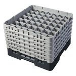 "Cambro Camrack 49 Compartment 11 3/4"" Glass Rack, Black"