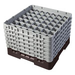 "Cambro Camrack 49 Compartment 11 3/4"" Glass Rack, Brown"