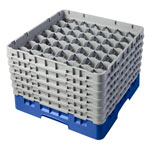 "Cambro Camrack 49 Compartment 11 3/4"" Glass Rack, Blue"