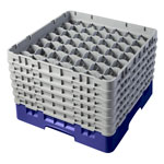"Cambro Camrack 49 Compartment 11 3/4"" Glass Rack, Navy Blue"