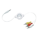Belkin Retractable Television Cable For iPod - Video / Audio Cable - 5 Ft