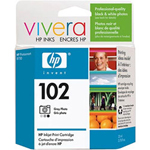 HP 102 Gray Ink Cartridge ,Model C9360AN140 ,Page Yield 120