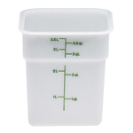 Cambro Camwear Camsquare Poly White Food Storage Containers, 4 Quart