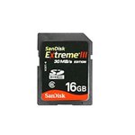 Sandisk Extreme III 30MB/s Edition High Performance Card - flash memory card - 16 GB - SDHC