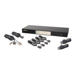 IOGEAR MiniView Dual View KVMP Switch GCS1644 - KVM / Audio / USB Switch - 4 Ports