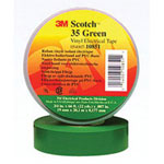 "3M 35 1/2"" x 20 Green Vinyl Color Coding Tape"