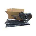 Colonial Bag Corp. Low Density Can Liner, 15 GAL, Black