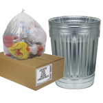"Aluf Plastics Can Liner, 24""x30"", Clear"