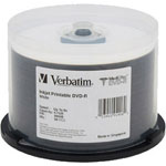 Verbatim MediDisc - 50 x DVD-R - 4.7 GB 8X - White - Ink Jet Printable Surface - Spindle - Storage Media