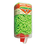 Moldex Pura-Fit PlugStation Earplug Dispenser, Cordless, 33NRR, Bright Green, 500 Pairs