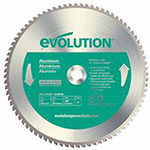 Evolution TCT Metal-Cutting Blades, 14 in, 1 in Arbor, 1,600 rpm, 80 Teeth