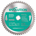 Evolution TCT Metal-Cutting Blades, 7 in, 20 mm Arbor, 3,900 rpm, 36 Teeth