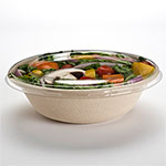 Sabert Clear Lid for 24, 32 & 48 oz Round Pulp Contianers