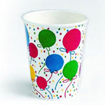 Creative Converting 9 Oz Hot/Cold Paper Cups, Balloon Design, Pack of 300