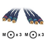 Cables To Go Velocity - Video Cable - Component Video - RCA (M) - RCA (M) - 50' - Shielded - Blue