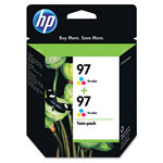 HP 97 Cyan/Magenta/Yellow Ink Cartridge, Model C9349FN140, Page Yield 450