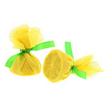 Royal   Lemon Wrap with Green Ribbon, Case of 4
