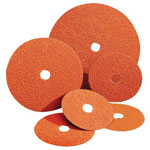 Norton Blaze Coated Fiber Discs, Ceramic, 4 1/2 in Dia., 36 Grit