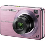 Sony Cyber-shot DSC-W120/P Digital Camera, Pink