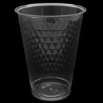Polar Plastics 16 Oz. Clear Plastic Diamond Cut Cup