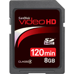 Sandisk Video HD Flash Memory Card 8 GB SDHC